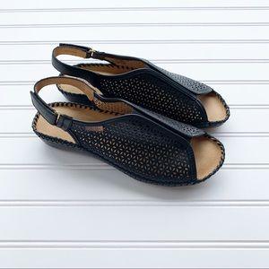 Pikolinos Puerto Vallarta Lasercut Leather Sandals
